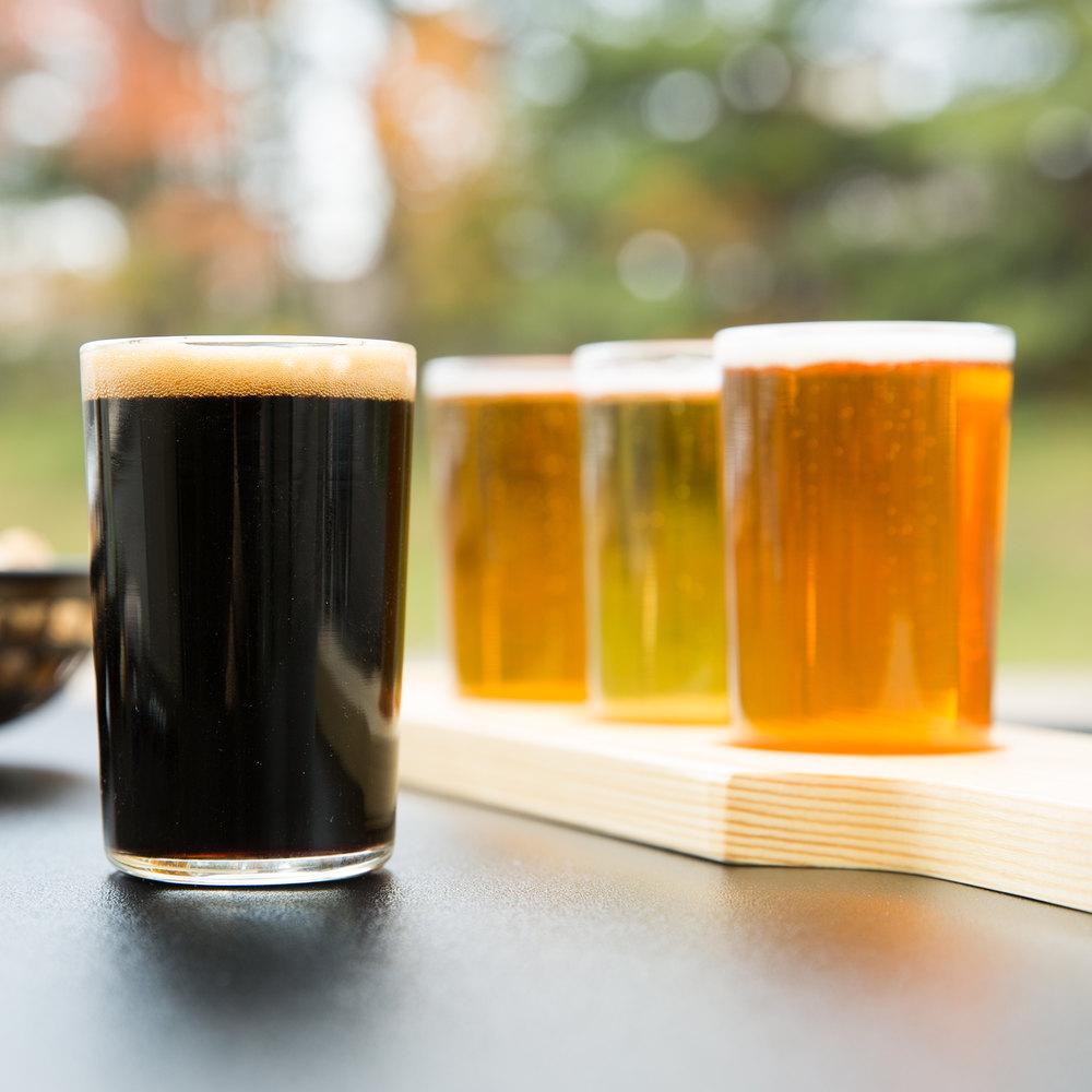 libbey craft brews beer flight 4 glass set with natural. Black Bedroom Furniture Sets. Home Design Ideas