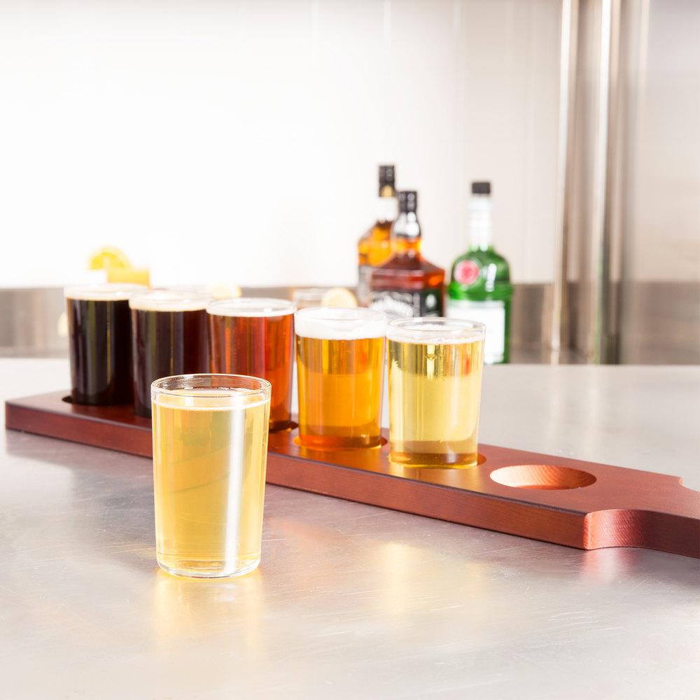 libbey craft brews beer flight 6 glass set with red. Black Bedroom Furniture Sets. Home Design Ideas
