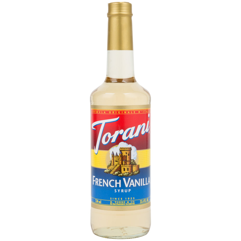 Torani 750 Ml French Vanilla Flavoring Syrup
