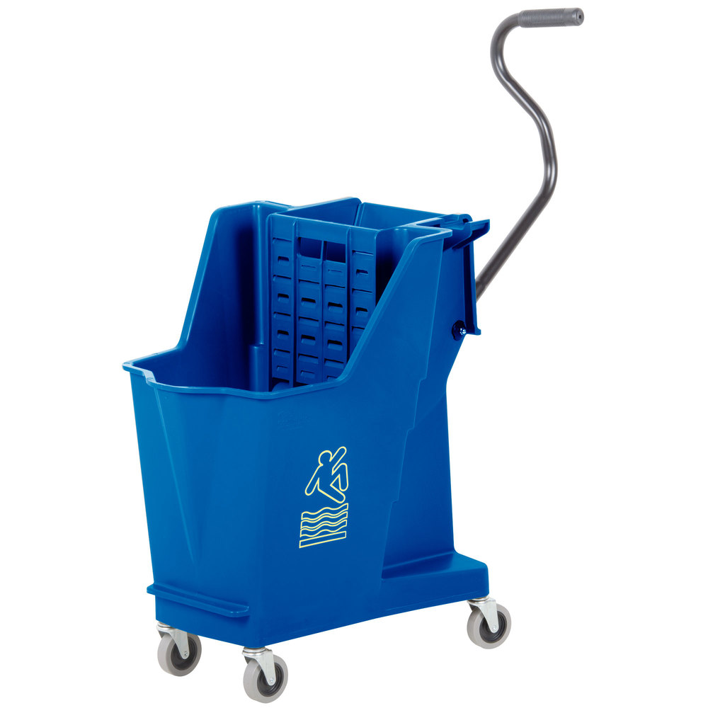 Continental 351bl 35 Qt Blue Unibody Mop Bucket With