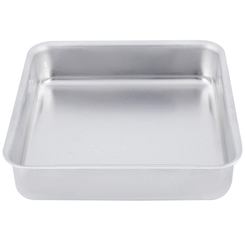 "American Metalcraft SQ620 6"" x 6"" x 2"" Heavy Weight Aluminum Pizza Pan"