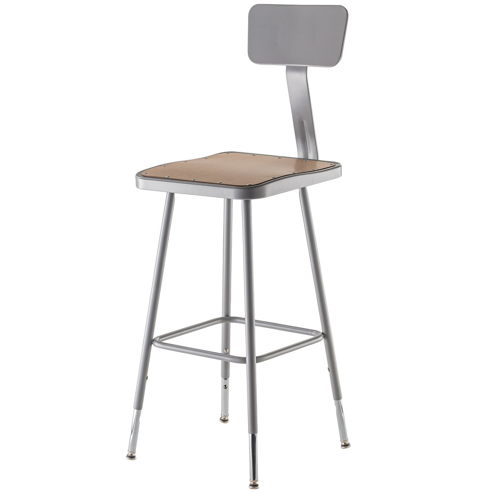 Adjustable Stool With Back Part - 38: Main Picture
