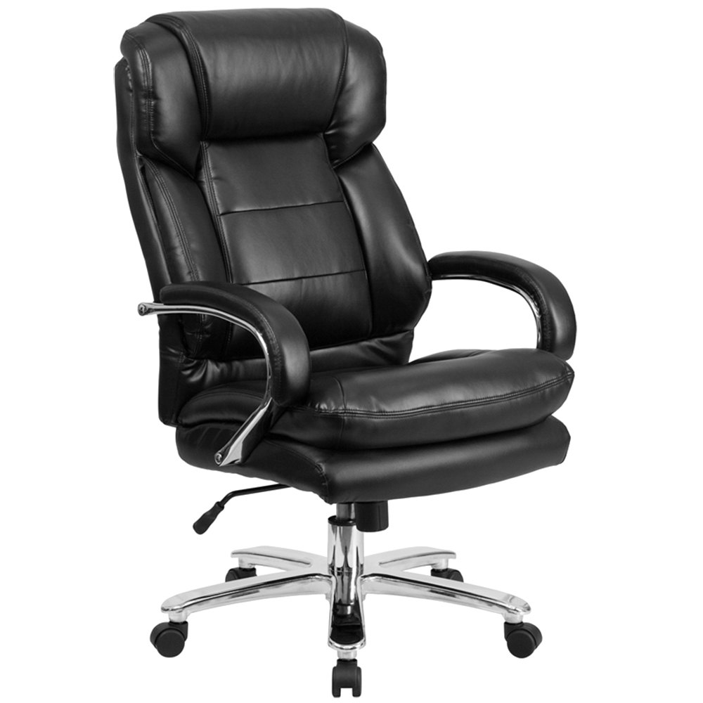 Flash Furniture Go 2078 Lea Gg High Back Black Leather Intensive Use Multi Shift Swivel Office