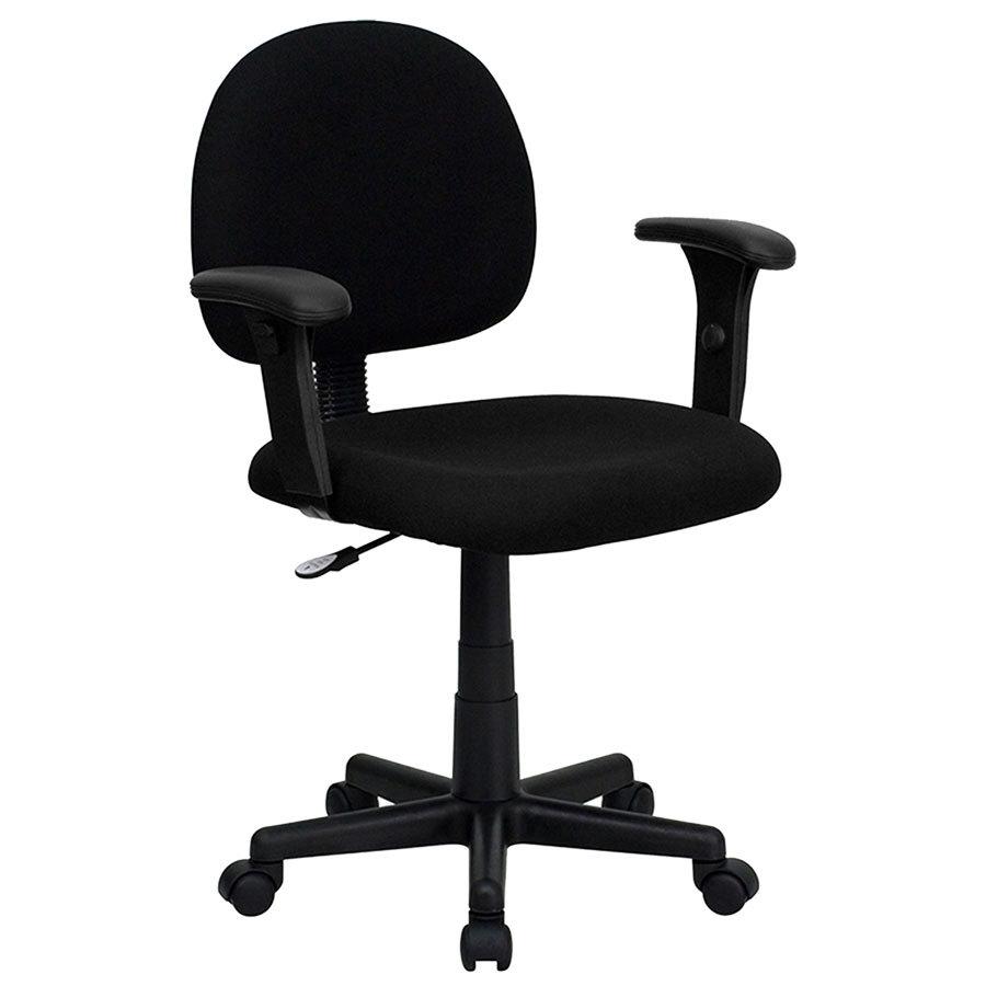 Flash Furniture Bt 660 1 Bk Gg Mid Back Black Ergonomic