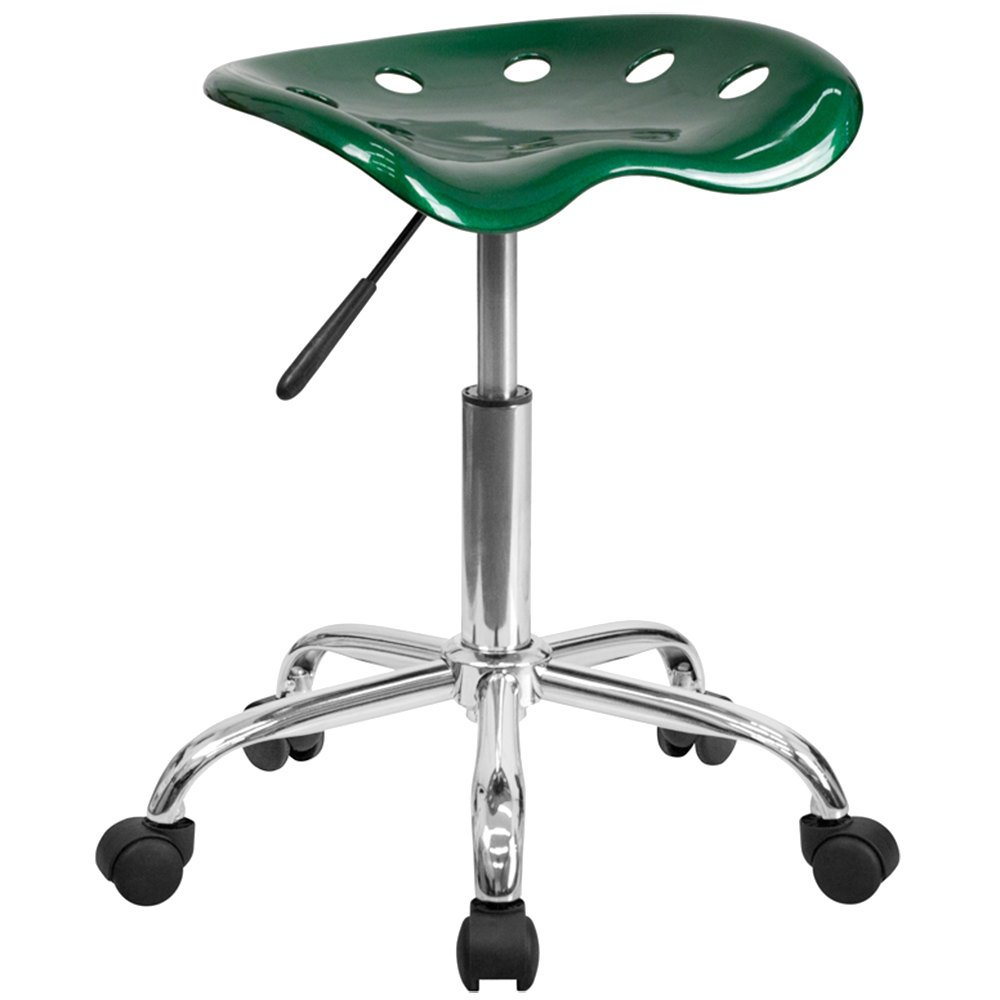 Green Office Stool with Tractor Seat and Chrome Frame : 700583 from www.webstaurantstore.com size 1000 x 1000 jpeg 44kB