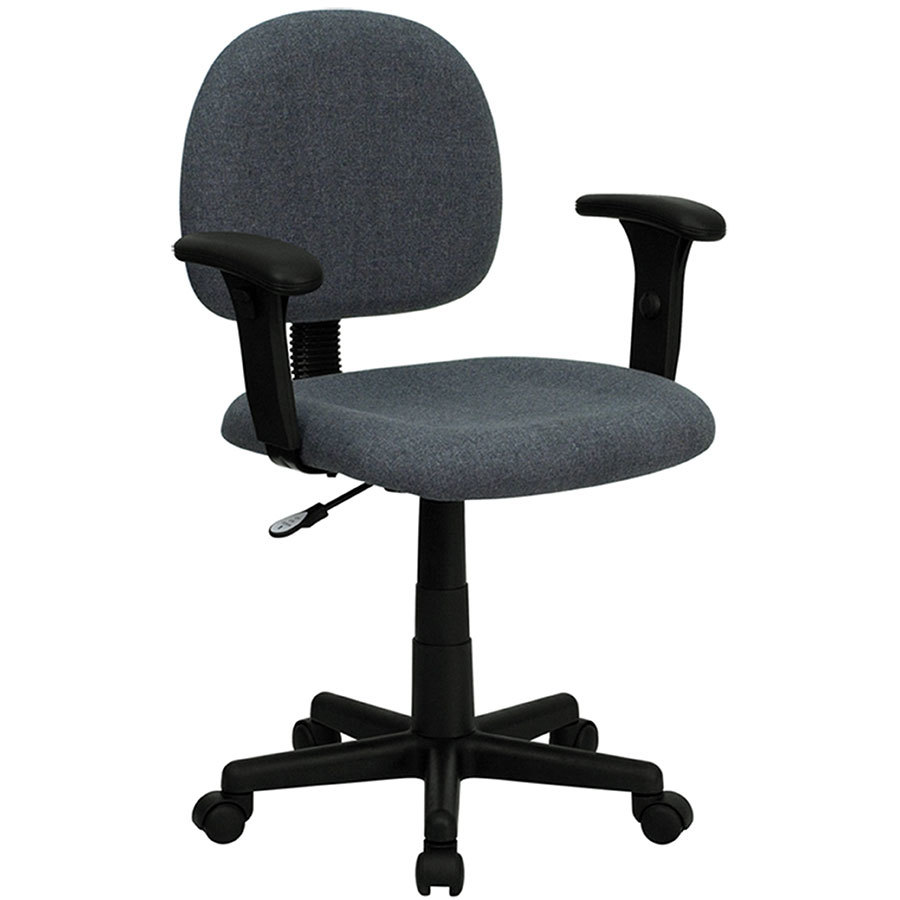 flash furniture bt 660 1 gy gg mid back gray ergonomic office chair task chair with adjustable. Black Bedroom Furniture Sets. Home Design Ideas