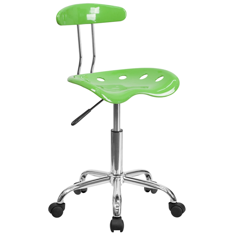 lime green office furniture. Flash Furniture LF-214-SPICYLIME-GG Spicy Lime Office / Task Chair With Tractor Seat And Chrome Frame Green G