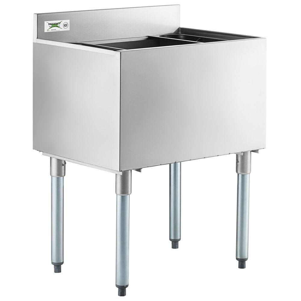 Regency 18 inch x 24 inch Underbar Ice Bin - 77 lb.
