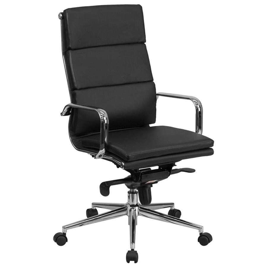 Flash Furniture Bt 9895h 6 Bk Gg High Back Black Leather Executive Swivel Office Chair With