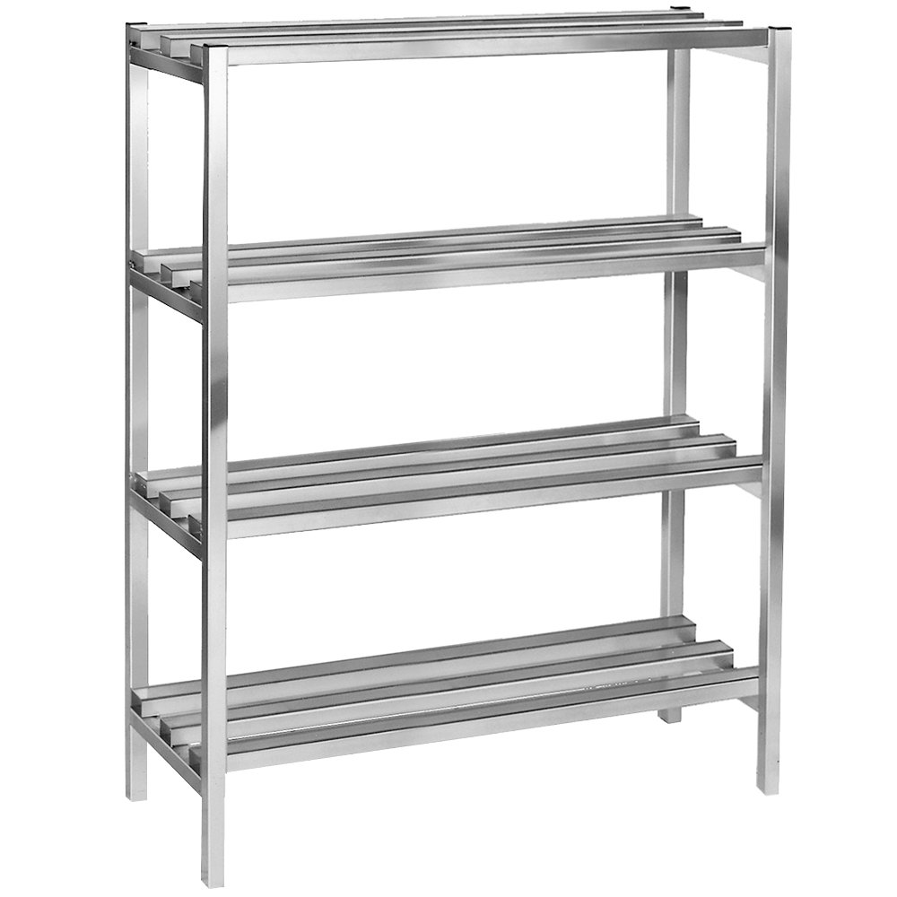 parts of kitchen cabinets channel dr2460 4 60 quot x 24 quot x 64 quot four shelf aluminum 24604