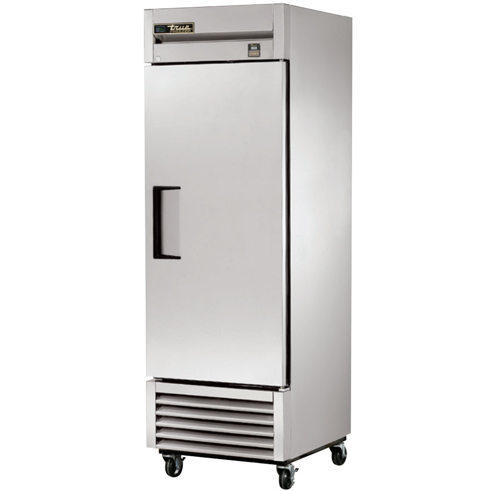 "True TS-23F 27"" Stainless Steel One Section Solid Door Reach-In Freezer"