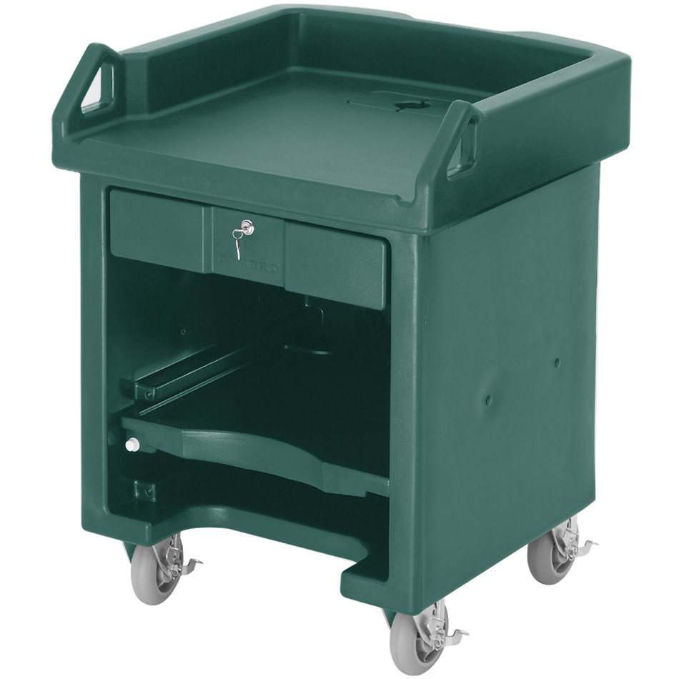 Cambro VCSHD519 Green Versa Cart with Heavy Duty Casters