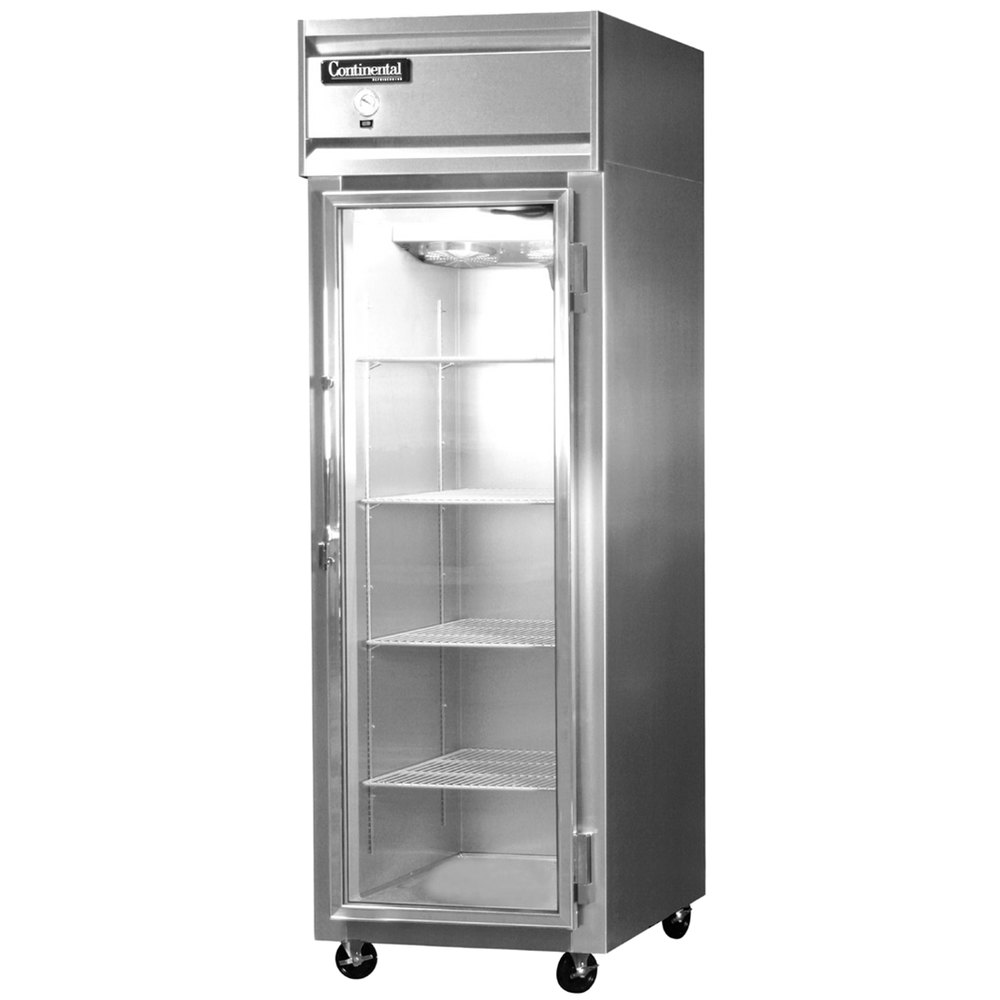 """Continental Refrigerator 1F-GD 26"""" One Section Glass Door Reach-In Freezer  - 21 Cu. Ft."""