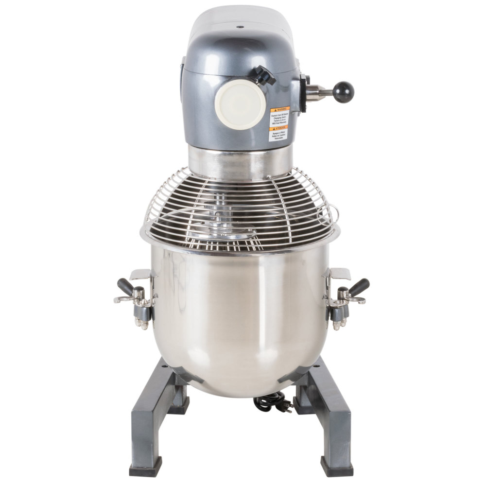 Avantco MX20 20 Qt. Gear Driven 20 Commercial Planetary Stand Mixer with Guard - 110V, 1 HP