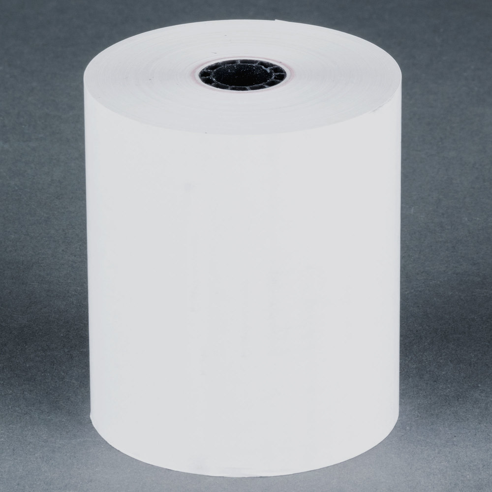 "3 1/8"" x 230' Thermal Cash Register POS Paper Roll Tape - 50/Case"