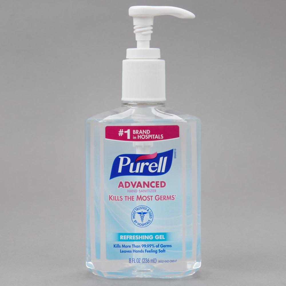 Purell 174 9652 12 Advanced 8 Oz Gel Instant Hand Sanitizer