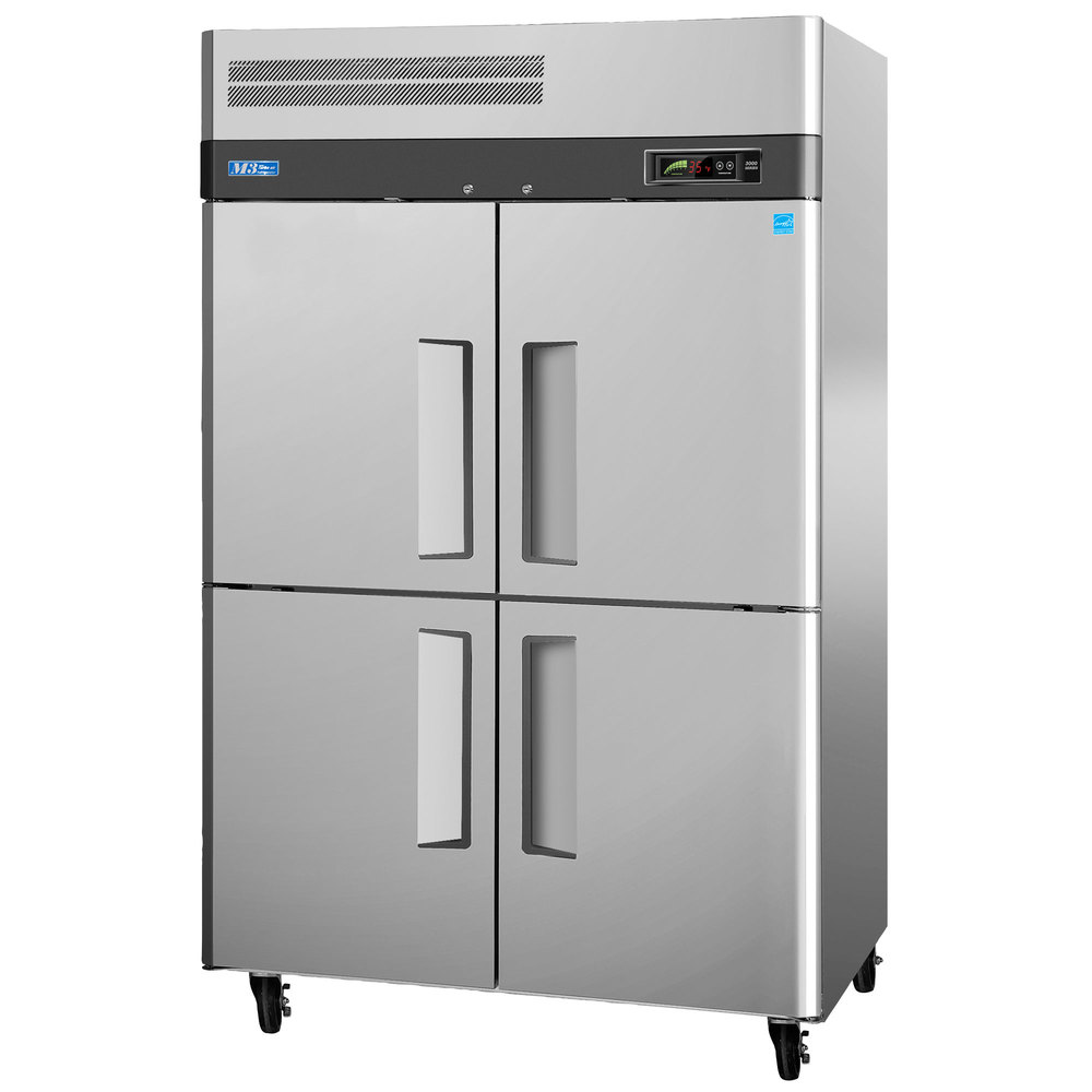 "Turbo Air M3F47-4 51"" M3 Series Four Half Door Reach In Freezer - 47 Cu. Ft."