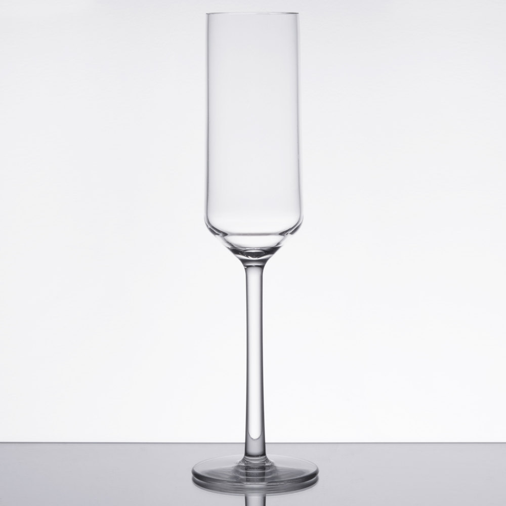 clear plastic champagne flute 24case