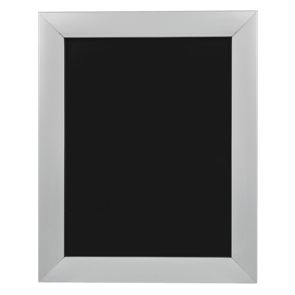 aarco 8 1 2 x 11 satin aluminum snap frame with mitered corners. Black Bedroom Furniture Sets. Home Design Ideas