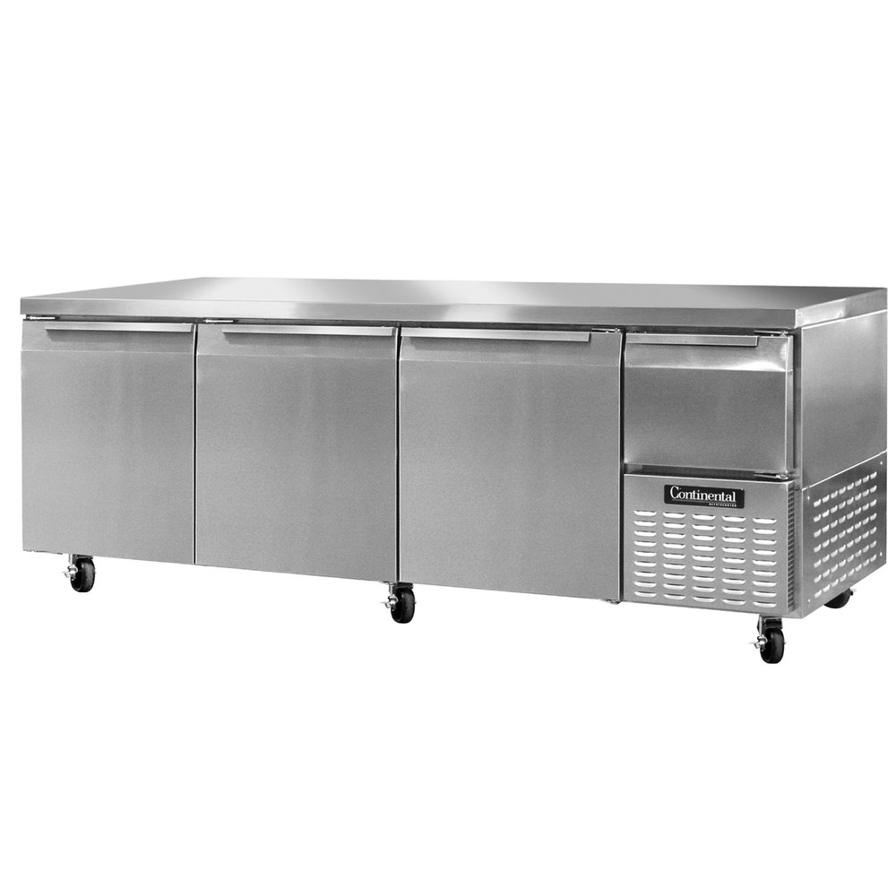 continental refrigerator cfa93 93 extra deep undercounter freezer 32 cu ft. Black Bedroom Furniture Sets. Home Design Ideas