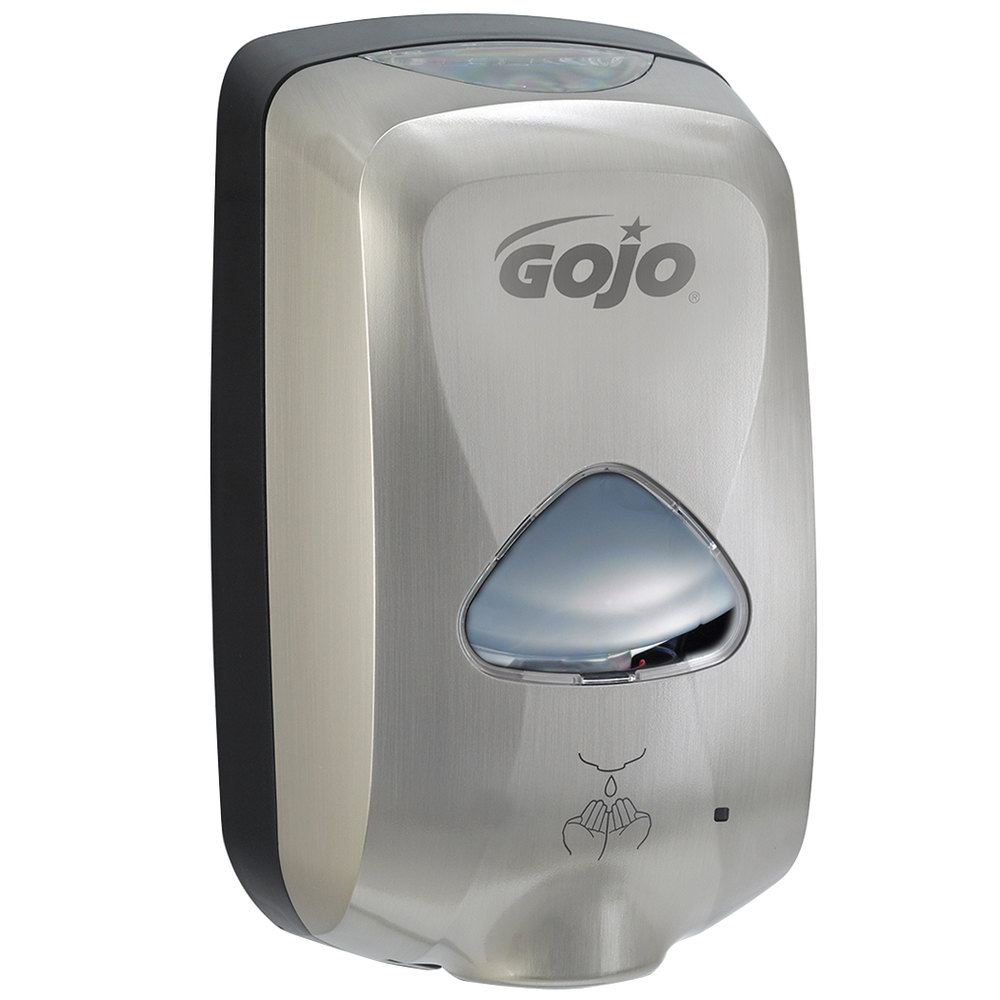 Touchless Hand Soap Dispenser ~ Gojo eeuoo tfx ml brushed metallic touchless