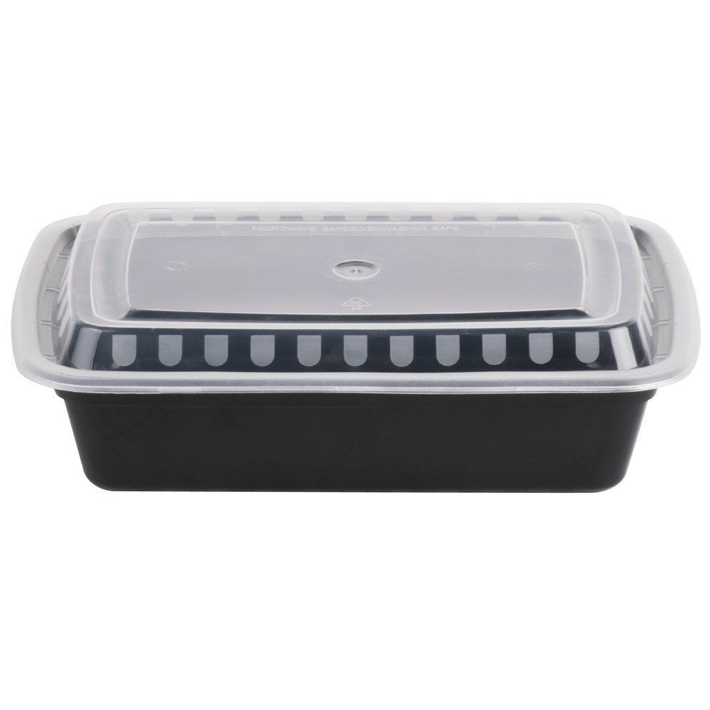 Choice Oz Black X X Rectangular Microwavable - Compact grill containers