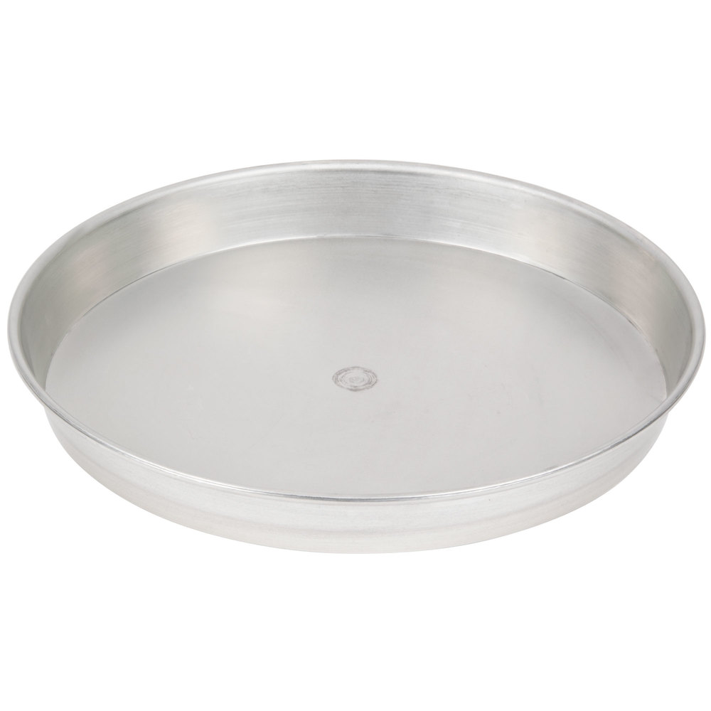 "American Metalcraft T901415 14"" Tin Plate Steel Pizza Pan - 14"" x 1 1/2"""