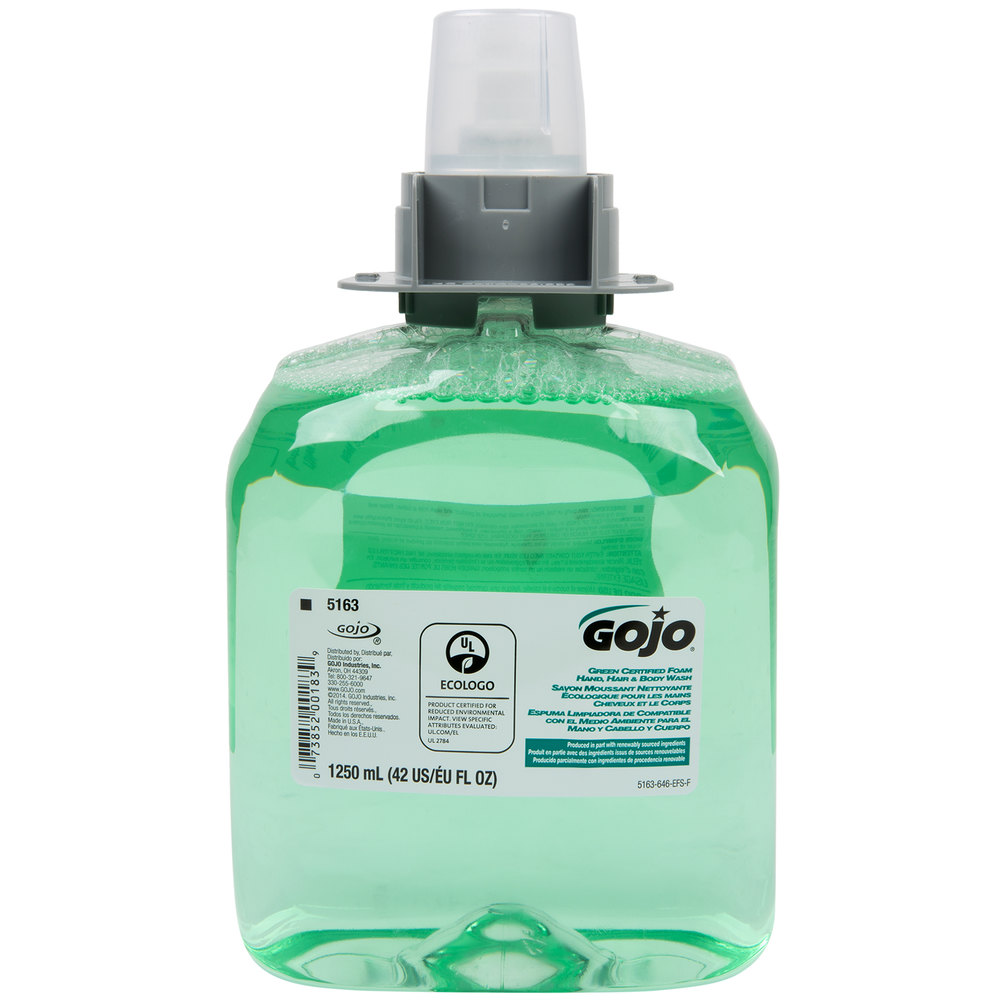 gojo 5163 03 fmx 12 green certified 1250 ml cucumber melon foaming
