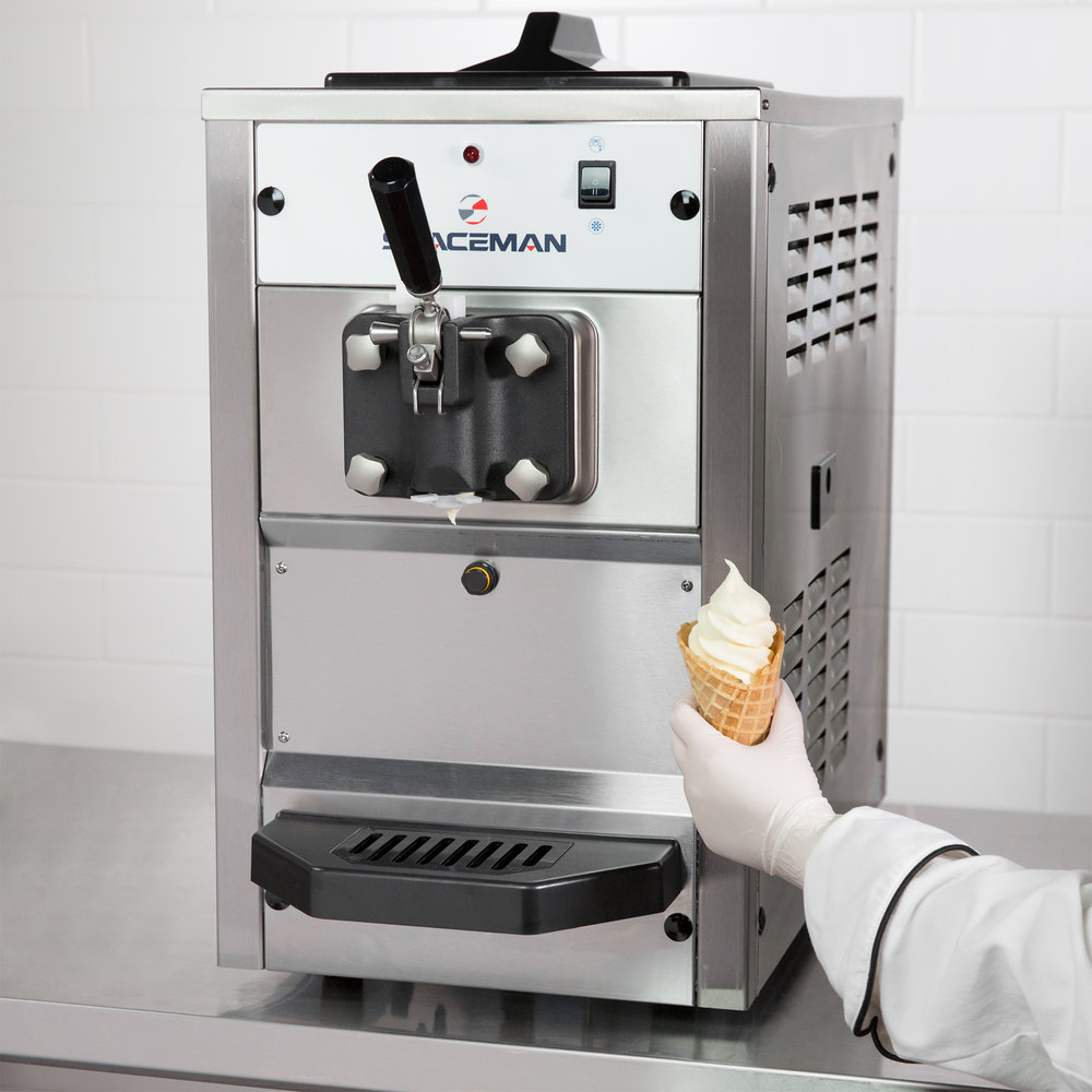 spaceman 6210 soft serve ice cream machine with 1 hopper 110v. Black Bedroom Furniture Sets. Home Design Ideas