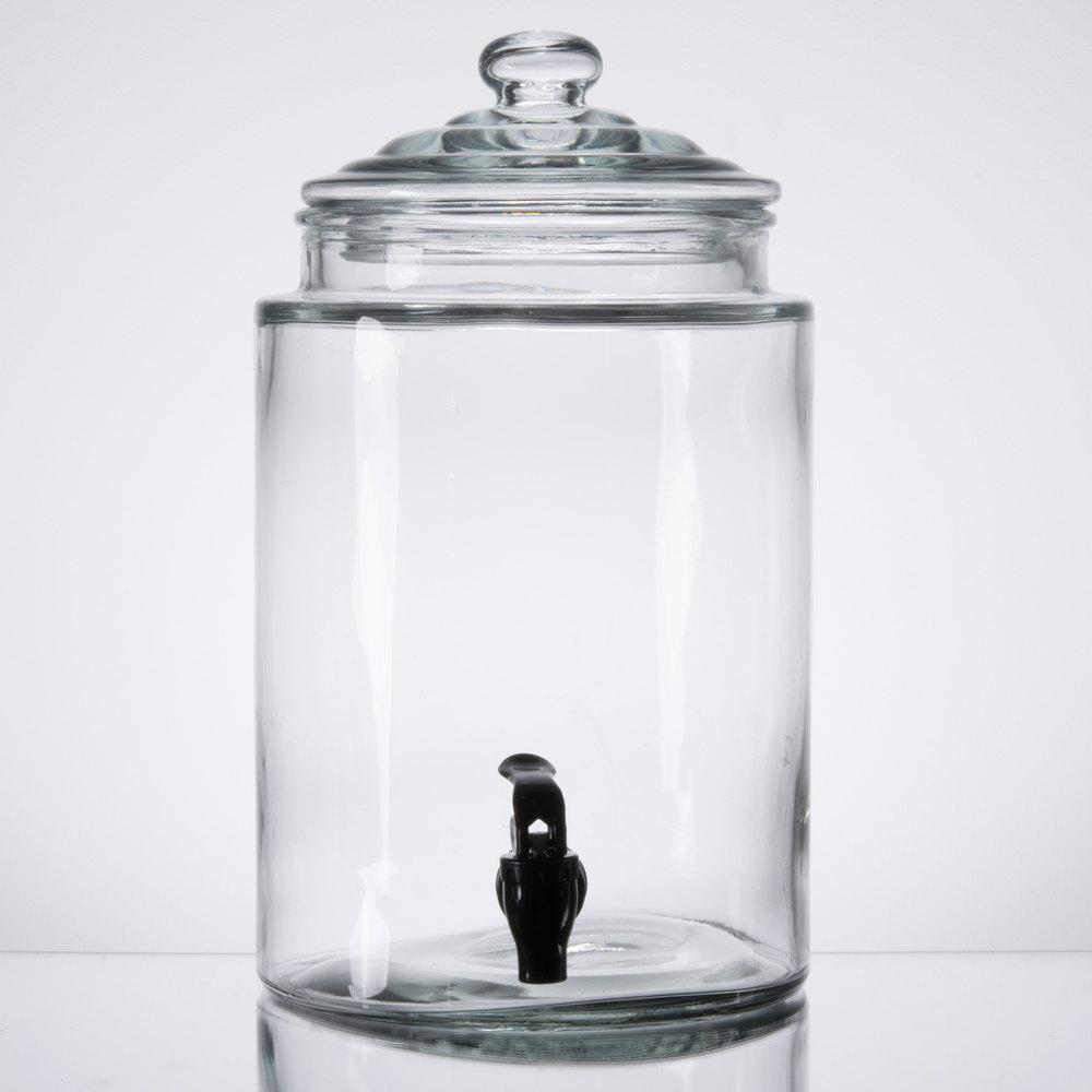 Core 1 75 Gallon Glass Beverage Dispenser