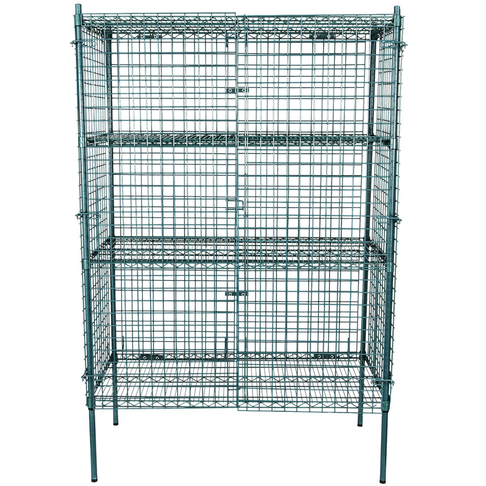 Regency NSF Stationary Green Wire Security Cage Kit - 24\