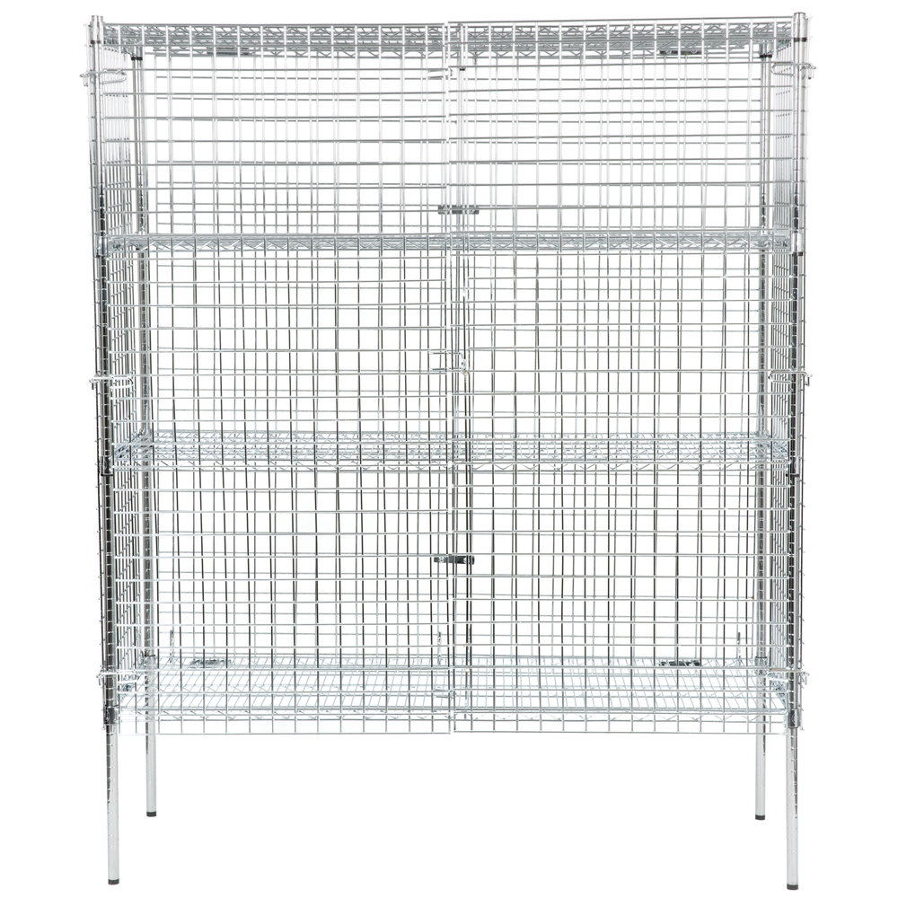 Regency NSF Stationary Chrome Wire Security Cage Kit - 24\