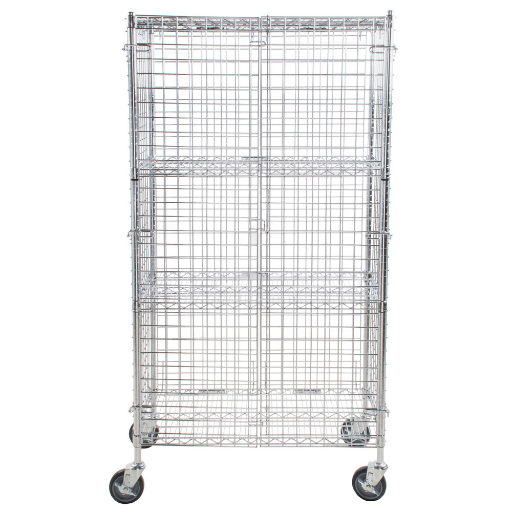Regency NSF Mobile Chrome Wire Security Cage Kit - 18\