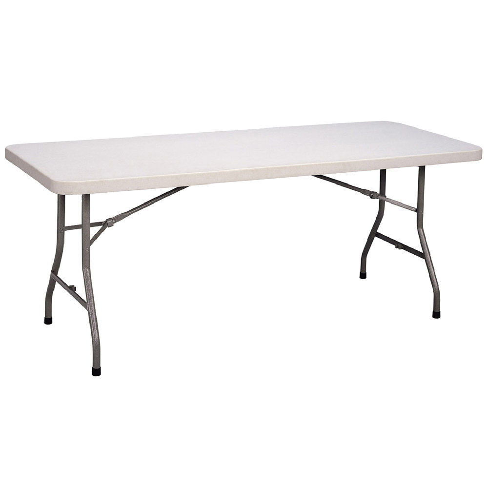 "Correll Economy Folding Table 30"" x 72"" Blow Molded Plastic"