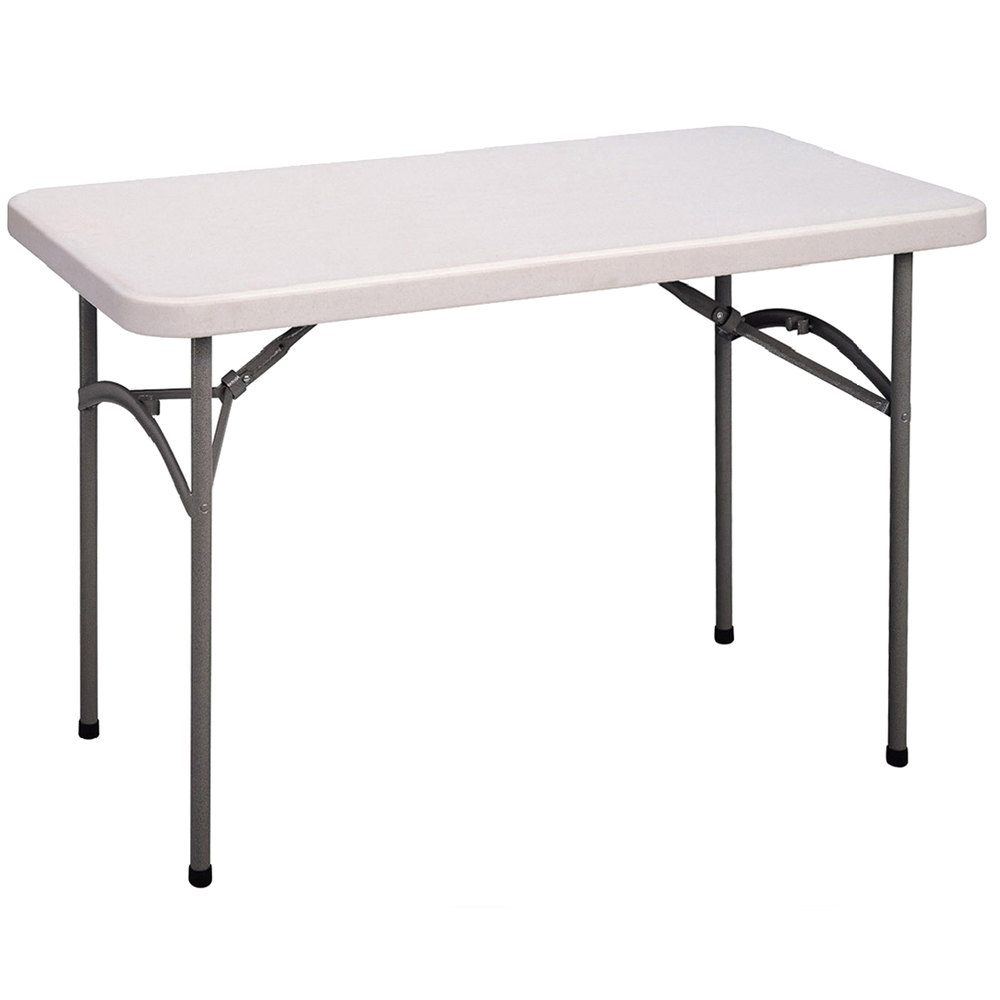 correll economy folding table 24 x 48 blow molded plastic granite gray cp2448 33. Black Bedroom Furniture Sets. Home Design Ideas