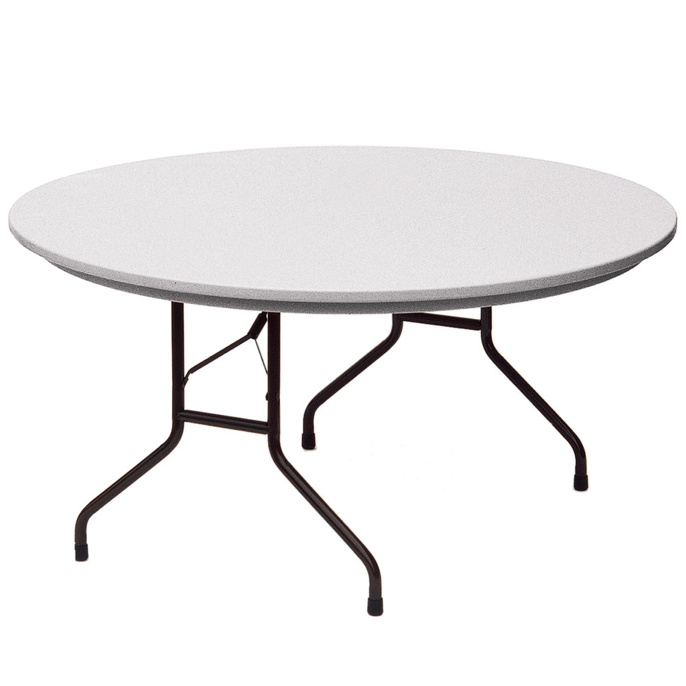 correll r60 23 60 round gray granite blow molded plastic heavy duty folding table. Black Bedroom Furniture Sets. Home Design Ideas