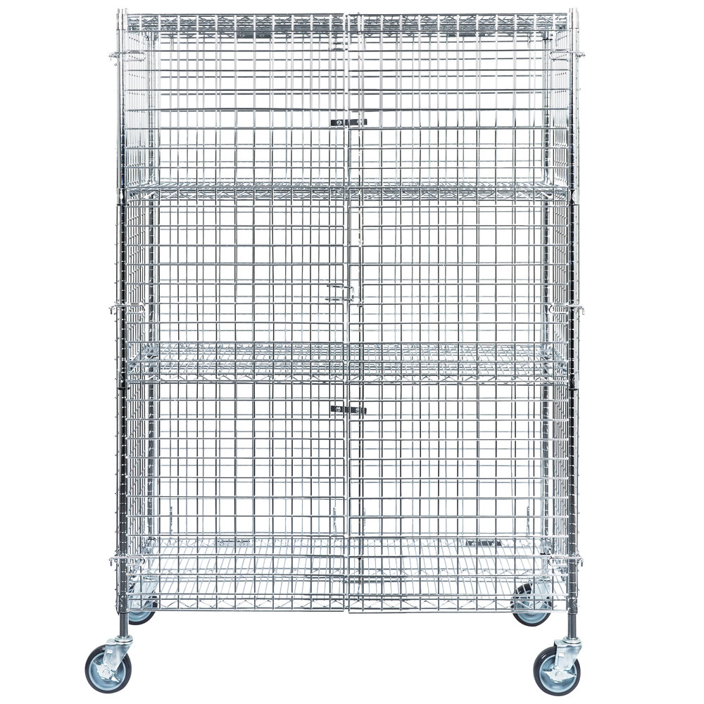 Regency NSF Mobile Chrome Wire Security Cage Kit - 24\