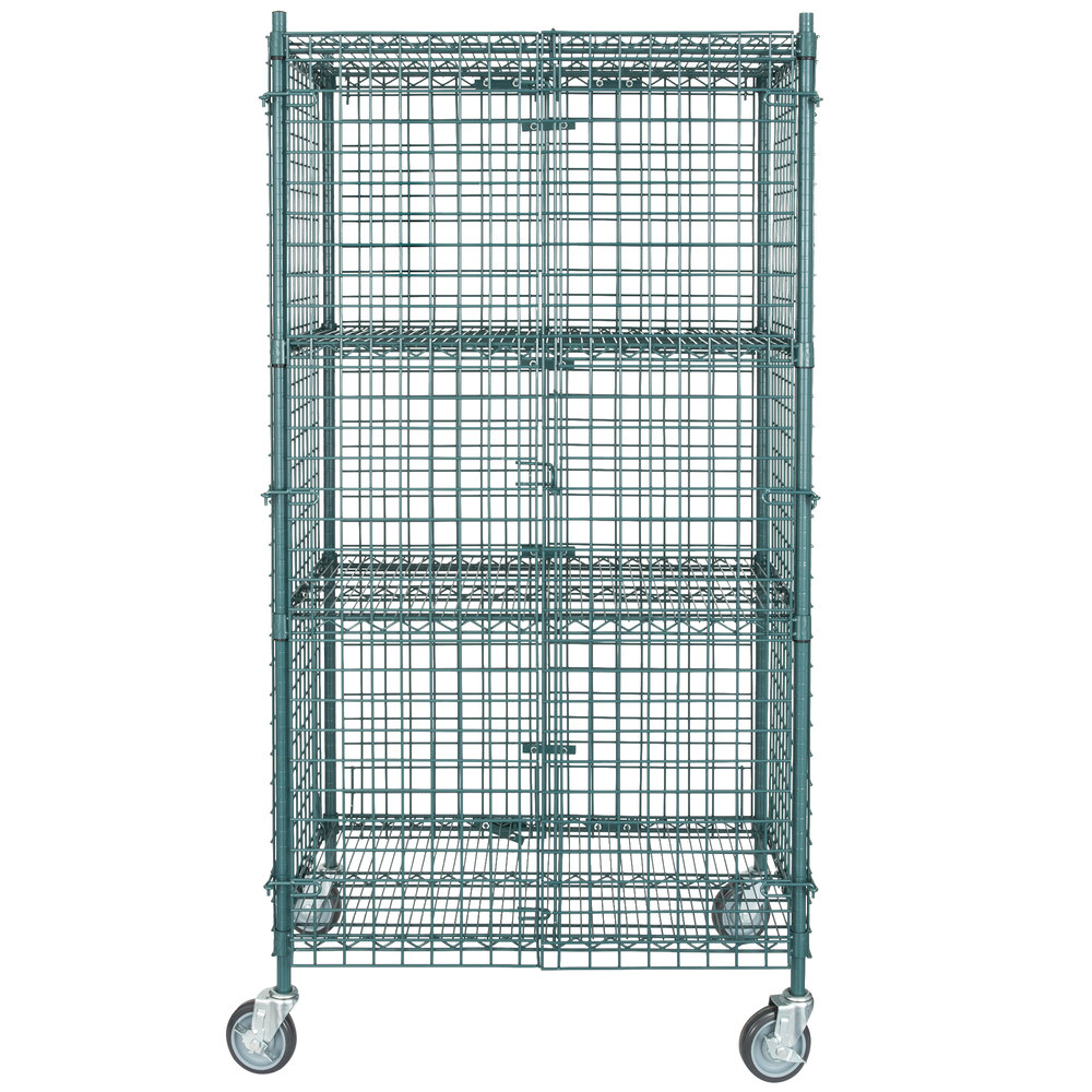 Regency NSF Mobile Green Wire Security Cage Kit - 24\
