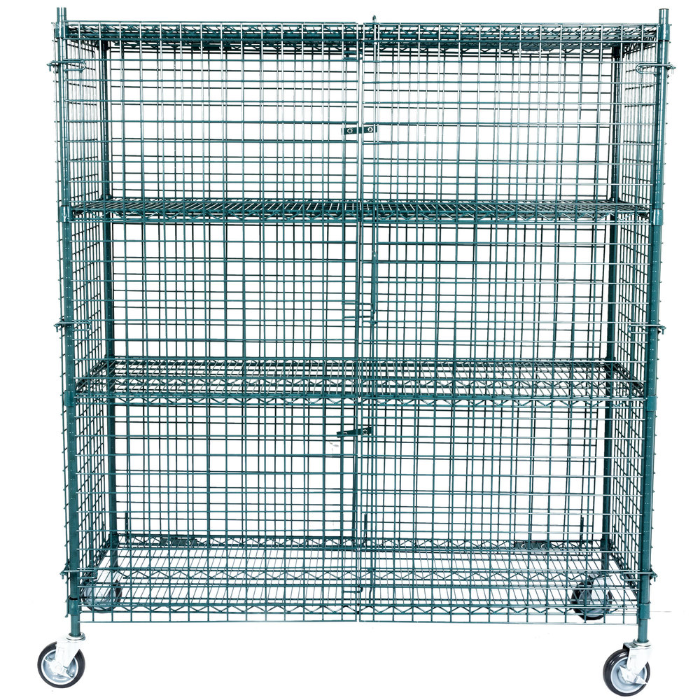Regency NSF Mobile Green Wire Security Cage Kit -24\