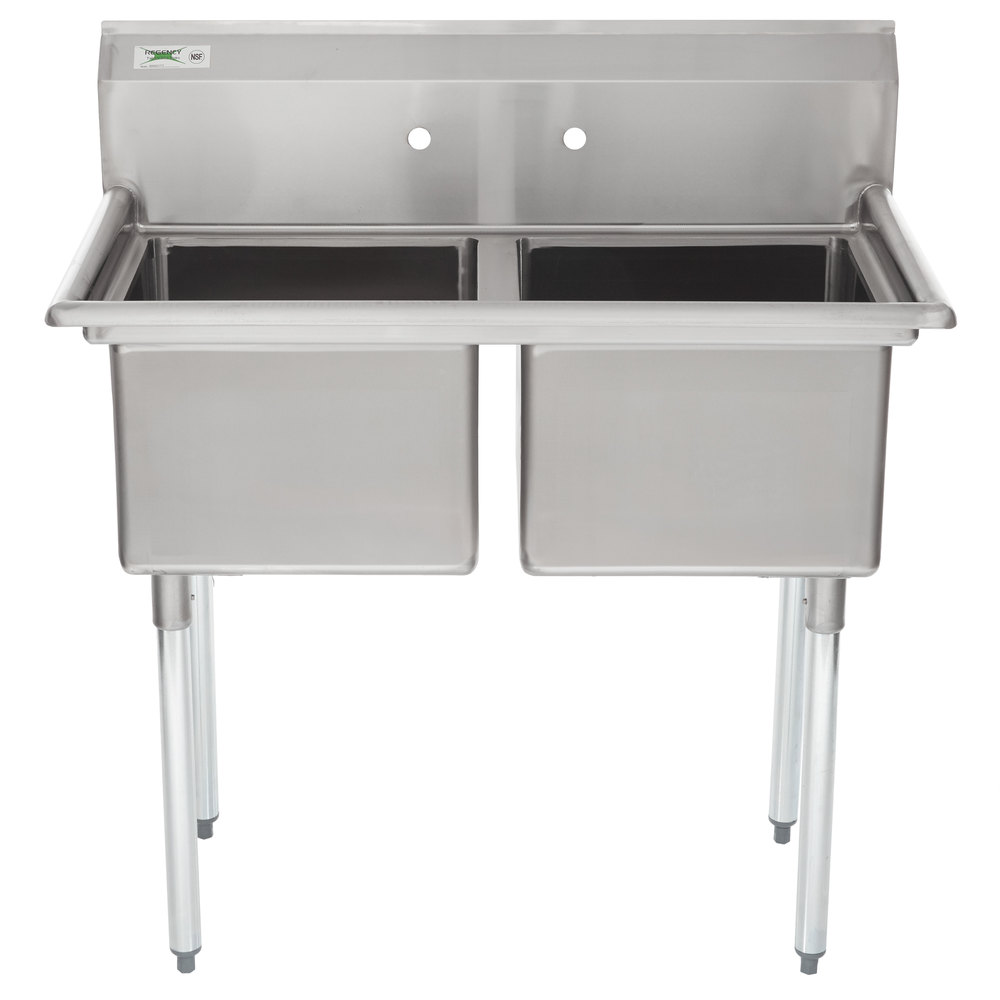 Regency 41 Quot 16 Gauge Stainless Steel Two Compartment