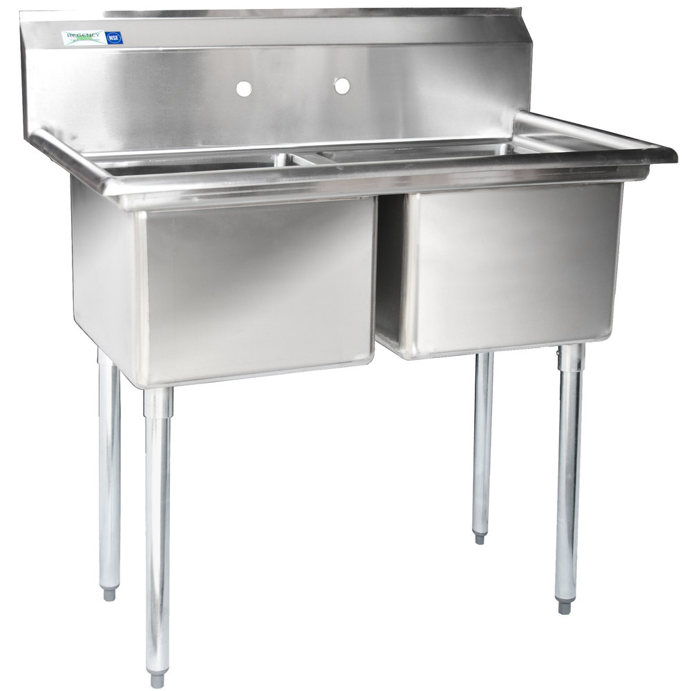 """Regency 41"""" 16gauge Stainless Steel Two Compartment. What Is A Kitchen Island. How To Remove Kitchen Tiles. Black Kitchen Island Table. Office Kitchen Appliances. What Are The Best Kitchen Appliances To Buy. Kitchen Island Lights Home Depot. Farmhouse Lighting Fixtures Kitchen. Mosaic Tile In Kitchen"""