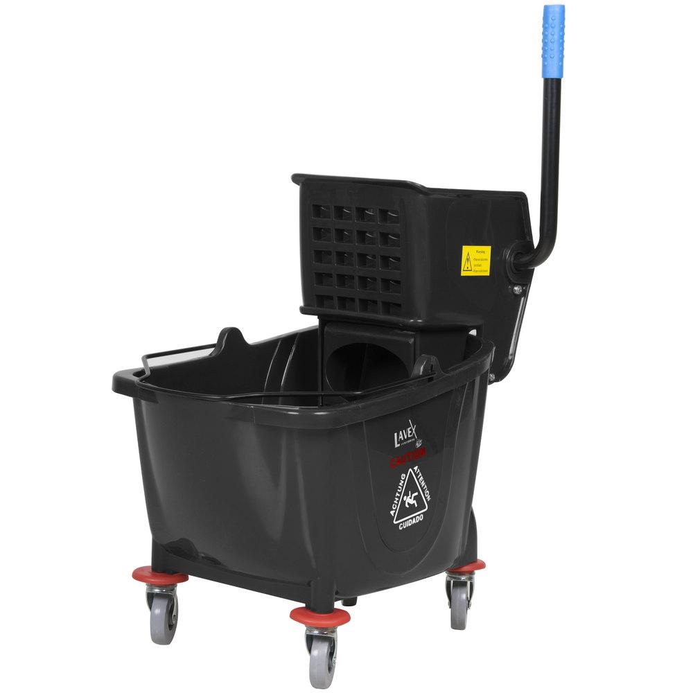 Lavex Janitorial Black 36 Qt Mop Bucket Amp Wringer Combo