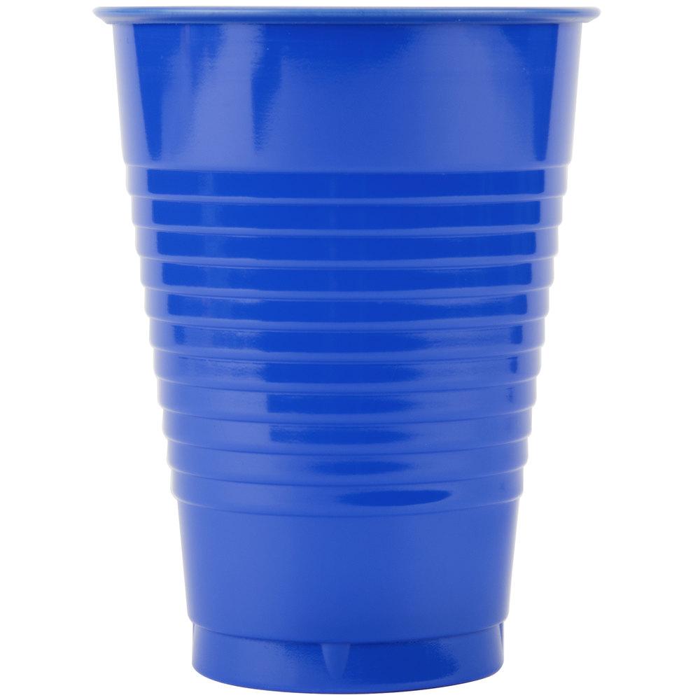 Creative Converting 28314771 12 Oz Cobalt Blue Plastic