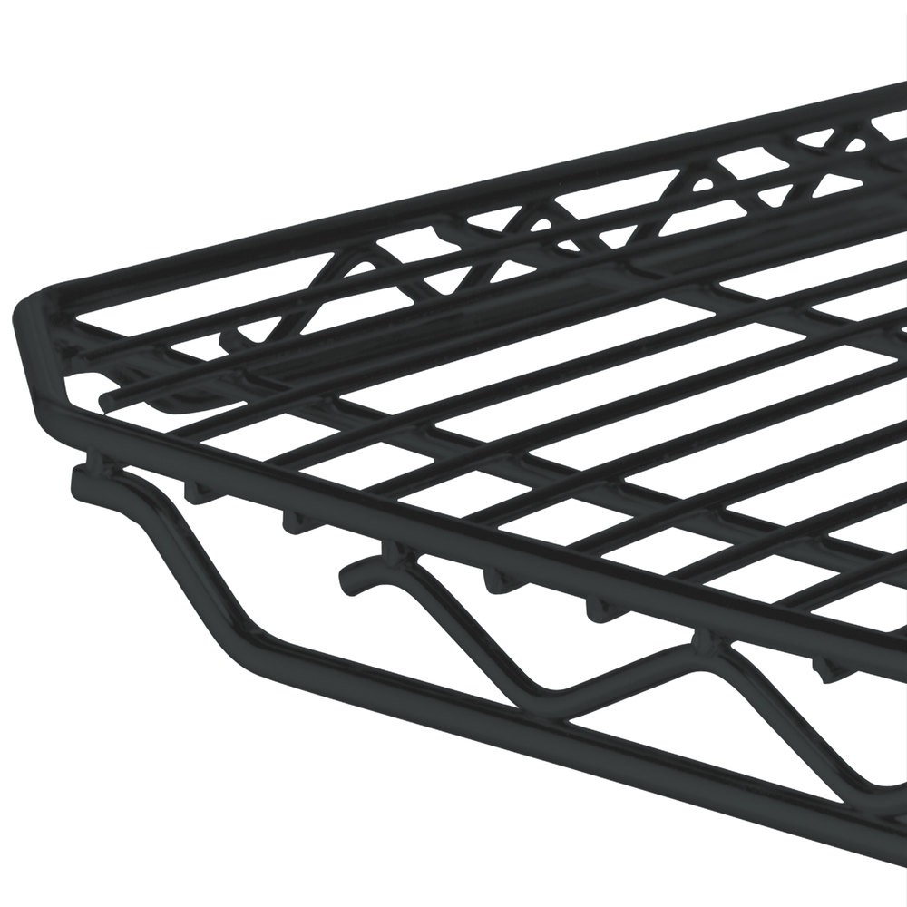 "Metro 2448Q-DBM qwikSLOT Black Matte Wire Shelf - 24"" x 48"""