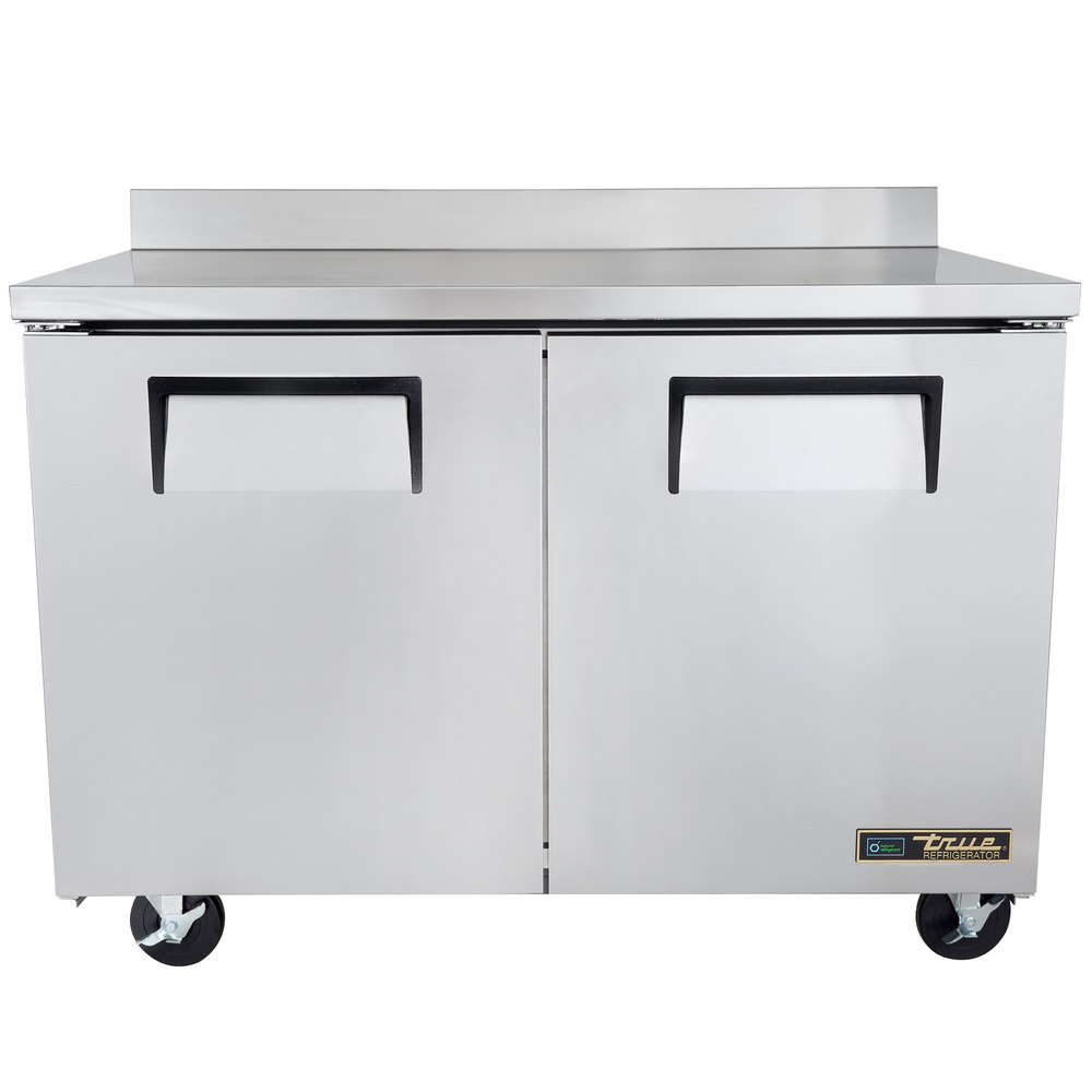 "True TWT-48F-HC 48"" Two Door Worktop Freezer"