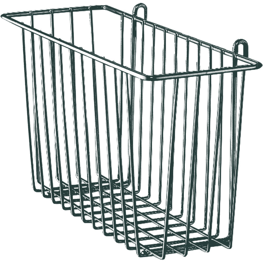 "Metro H209-DSG Smoked Glass Storage Basket for Wire Shelving 13 3/8"" x 5"" x 7"""