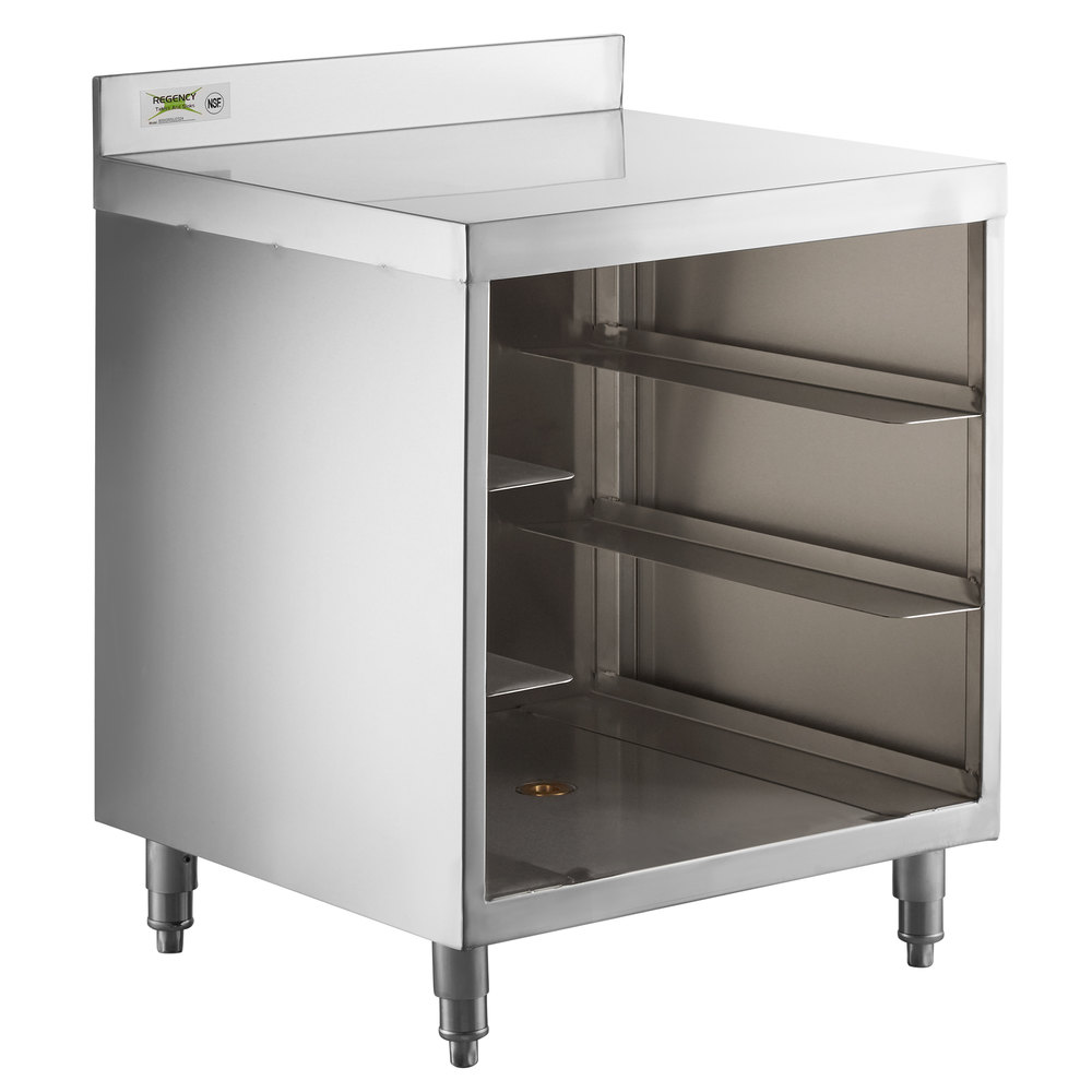 Regency Stainless Steel Flat Top Glass Rack Storage Unit - 23 inch x 24 inch
