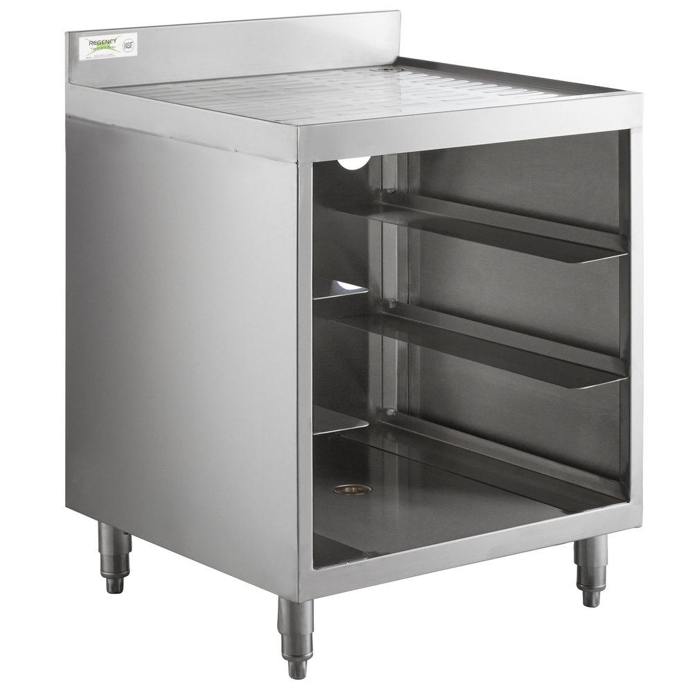 Regency Stainless Steel Corrugated Top Glass Rack Storage Unit - 23 inch x 24 inch