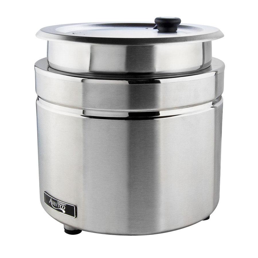 Restaurant Soup Warmer ~ Avantco w qt stainless steel countertop soup kettle