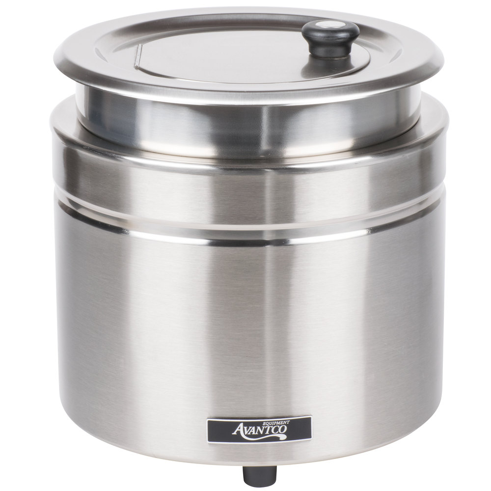 Avantco W800 11 Qt Stainless Steel Round Countertop Food